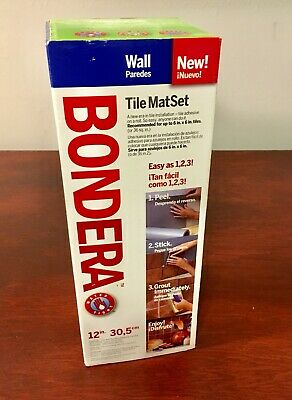 Bondera Water Repel Kitchen Bathroom Tile Mat Set 12 in x 10 ft Backsplash Roll