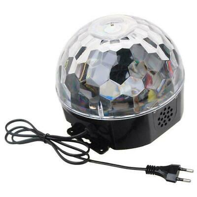 LED Stage Disco Ball Sound Activated Party Lights with Strobe Remote B7E9