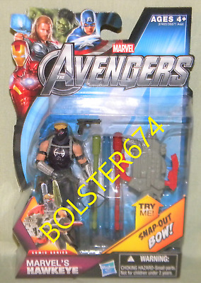 "The Avengers MARVEL'S HAWKEYE #05 Clint Barton 3.75"" Action Figure Comic Series"
