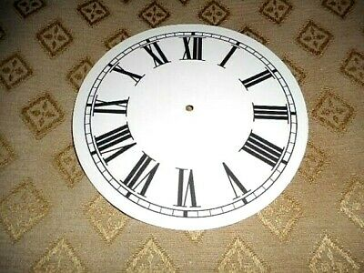 "Round Paper (Card) Clock Dial - 4 1/2"" M/T - Roman - MATT CREAM - Parts/Spares"