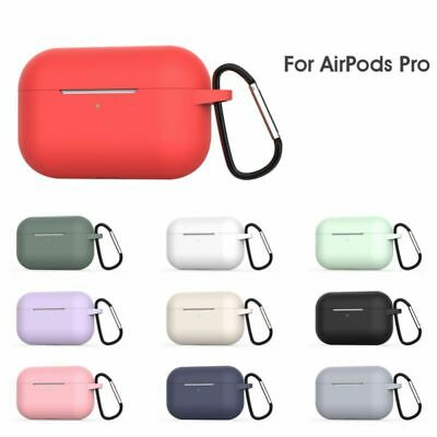 Silicone Protective Case Cover Skin +KeyChain for Apple AirPod Pro Charging Case