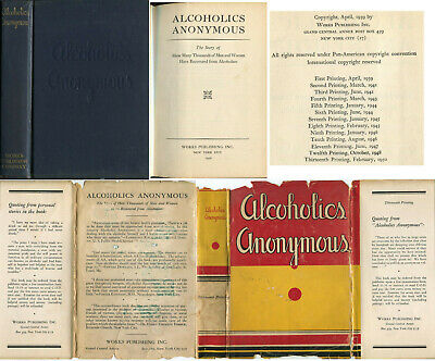 Alcoholics Anonymous First 1st Edition 1950 13th Print Original DJ AA Big Book