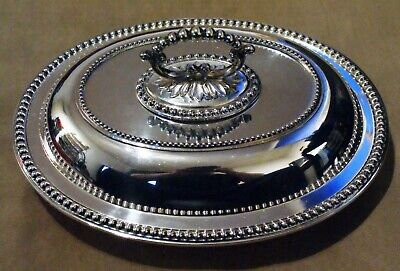 Silver Plated Tureen Entree Dish With Lid Hukin & Heath Vintage