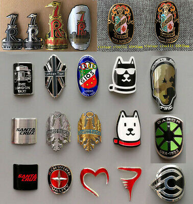 40*55mm Cycling Head Badge Bicycle Frame Tube Alloy Badge Decals Stickers Gold