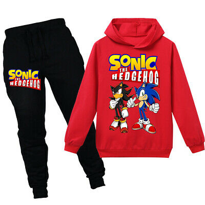 2020 Christmas new sonic the hedgehog boy fashion casual hoodie suit
