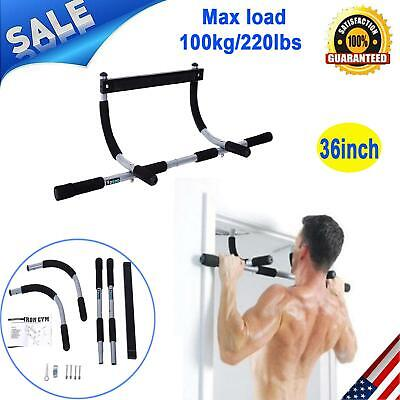 Doorway Chin Pull Up Bar Exercise Fitness Gym Home Door Mounted Heavy Duty New
