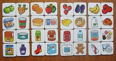SHOPPING LIST Game Orchard Toys Spare Replacement Food Cards Choose 1 Card