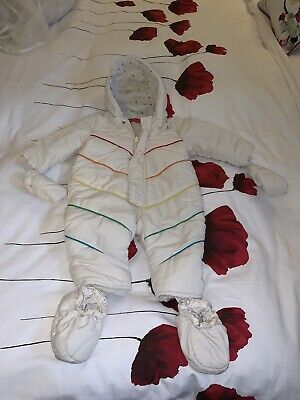 Little Bird Jools Oliver Mothercare Rainbow Snowsuit Cream 9-12 Months  🌈 VGC