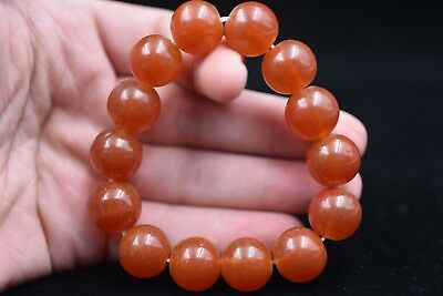 14 grain Chinese Hand carved Natural glass beads Bead Bracelets H230
