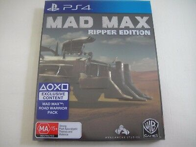 Mad Max - Playstation 4 PS4 Game   Metal Case Steelbook Ripper Edition   Poster