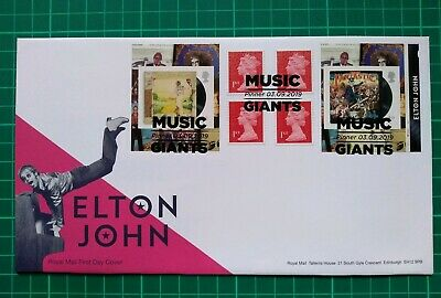 2019 Elton John Cylinder Retail Booklet FDC Music Giants Pinner Pmk
