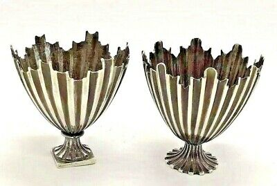 Antique Silver Ottoman Zarf Pair Of Coffee Cup Holder Unusual Novelty Mint