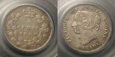Canada 1898 Five Cent 5c PCGS VF35 Very Fine