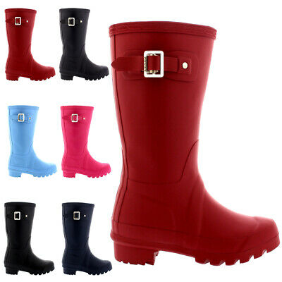 Unisex Kids Original Rubber Snow Winter Waterproof Welly Rain Boots All Sizes