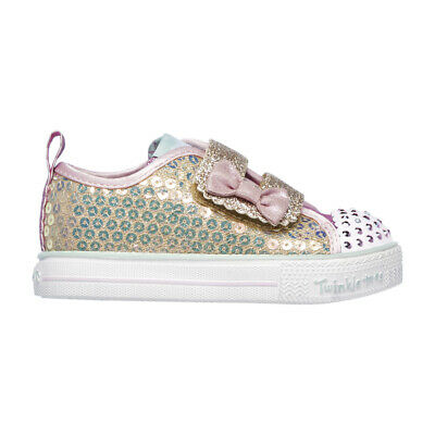 Kids Girls Infants Skechers Shuffle Lite Mini Mermaid Twinkle Toes All Sizes