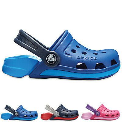 Unisex Kids Crocs Electro III Clogs Closed Toe Water Resistant Shoes All Sizes