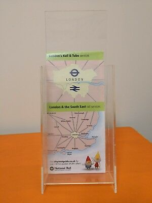 Portrait Perspex Acrylic Angled Counter Menu Poster Holder Display Stands