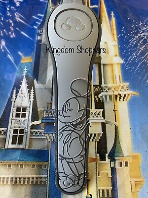 Disney Parks Mickey Mouse Sketch GRAY Magicband Magic Band 2 New