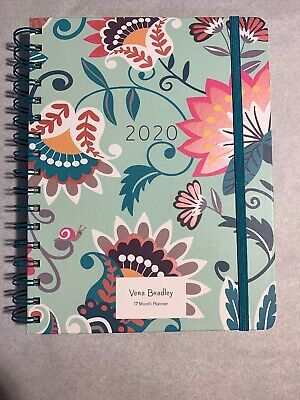 Vera Bradley Large 17 Month Planner/ Agenda in Mint Flowers
