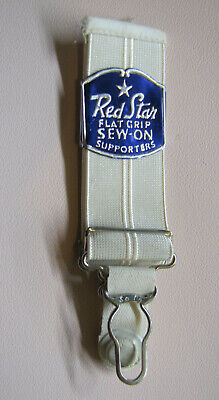 Vintage NOS Red Star Flat grip sew on hoisery supporters girdle garters USA