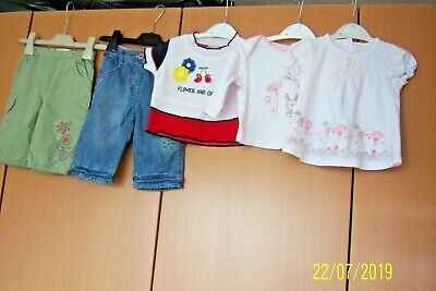 Baby Girls Bundle 3 - 6 Months 5 Items Trousers Dresses Tops Mothercare M & S Tu