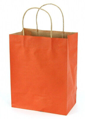 Burnt Orange Kraft Small Shopping Bags 8 x 4.5 x 10.25 Inches - Case of 100