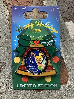 2019 Disney Contemporary Resort Holiday Bell Pin LE 2000 Tinker Bell