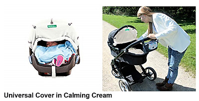 WUNDERS Baby Stroller Sun Visor Infant Carrier Shade Canopy Car Seat Cover CREAM