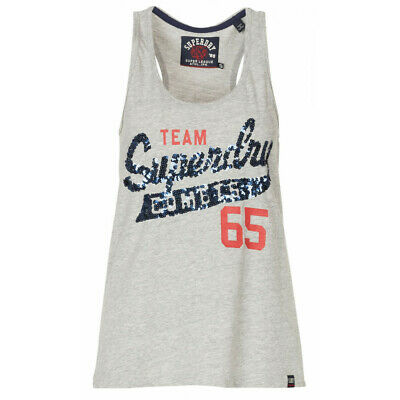 Canotta Superdry Team Comets Lustrini Grigio Heather
