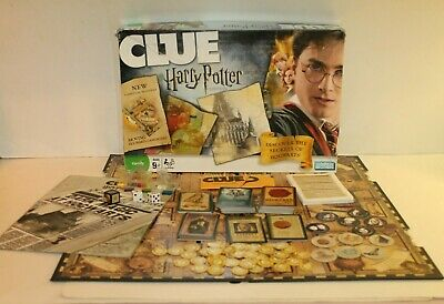 Hasbro Harry Potter Edition Clue With Moving Hogwarts Board 100% Complete