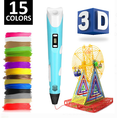 3D Printing Pen 2nd Crafting Doodle Drawing Arts Printer Modeling PLA Filaments