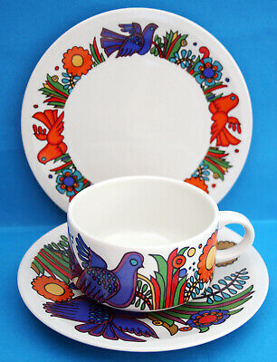 Villeroy & Boch Acapulco Pattern Trio Cup Saucer & Side Plate