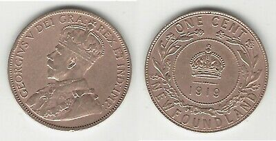 Newfoundland 1919 Large Cent ... Great Coin !!