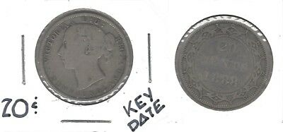 """Newfoundland """"KEY DATE"""" 1888 .925 Silver 20 Cent Coin ... Take A Look !!"""