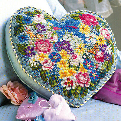 EHRMAN CANDACE BAHOUTH Victorian Flowered Heart NEEDLEPOINT TAPESTRY KIT RETIRED