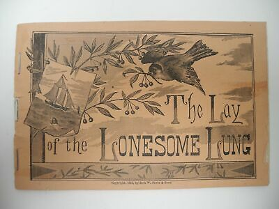 Lay of the Lonesome Lung 1881 Quack Medicine Booklet for Winstar's Tonic