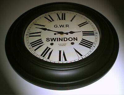 Custom Railway Clock, Oversize Style Station Clock, Bespoke Dial Made to Order.