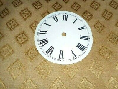 "Round Paper (Card) Clock Dial - 2 3/4"" M/T - Roman-GLOSS WHITE -  Parts/Spares"