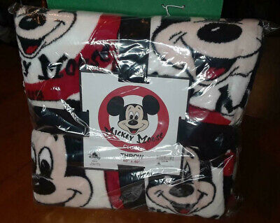 "NWT DIsney Parks Mickey Mouse Club Throw Blanket 60"" X 40"" (Red, White, Black)"