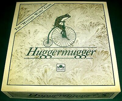 1989 Huggermugger The Mystery Word Game Complete /_small stain on box lid