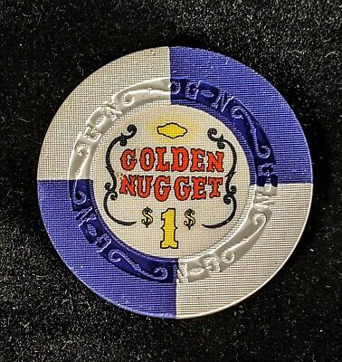 Golden Nugget $1 casino chip Las Vegas G~N mold