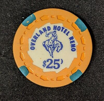 Overland Hotel & Casino Reno NV $25 TRK scrown Error Chip