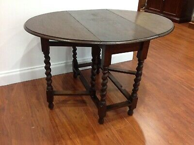 Antique Oak Folding Table/Hall Table