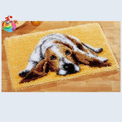 """Patchwork Latch hook rug kits Needle work thread embroidery """"Blood Hound"""" 52x..."""