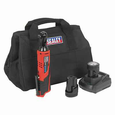 Sealey 3/8in Drive Cordless Ratchet Wrench 12 Volt 2 x 1.5Ah Li-Ion CP1202KIT
