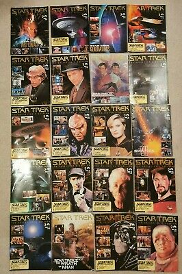 20 Star Trek The Collectors Edition  Magazines 1 -20 First Contact partwork mags