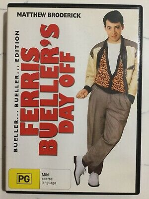 FERRIS BUELLER'S DAY OFF - DVD Region 4 - Matthew Broderick LIKE NEW CONDITION