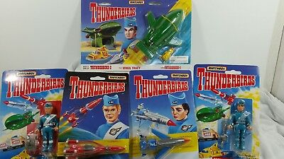 Vintage Matchbox thunderbirds rescue ships and figurines
