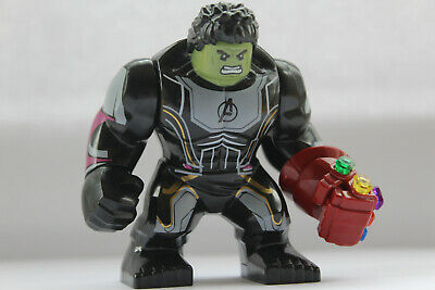 Marvel Super Heroes Incredibe Hulk Figure Avengers Infinity Gauntlet Fit lego