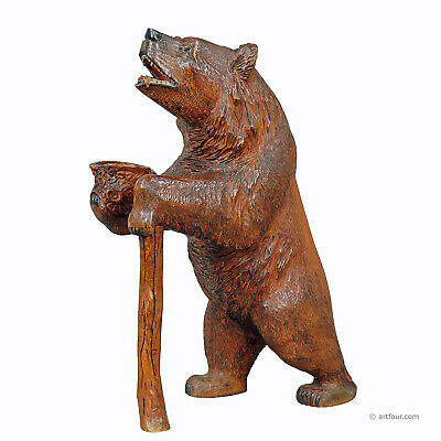a large carved standing bear, brienz ca. 1930